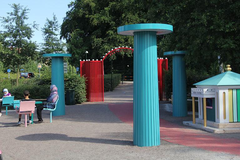 Billpost med Parcogrupp, Pildammsparken, Malmö