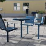 Parts of Parco furniture group in special color. Design Broberg & Ridderstråle