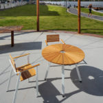 SunSet möbelgrupp, runt bord och fåtöljer. Design, Mats Aldén