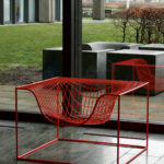 Grid, Rigshospital i Köpenhamn. Utanför fönstret Concrete Things möbelgrupp. Design Komplot