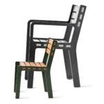Frank barnstol, tillsammans med Frank fåtölj, design David Taylor. Nyhet 2020