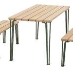 Gard long bench and long table, design Odin Brange Sollie. News 2020