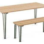Gard bench and table, design Odin Brange Sollie. News 2020