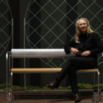 Gunilla Allard in Sofa Sigill. Stockholms Furniture Fair 2020.