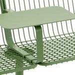 Korg möbelsystem, detalj bord och läderdyna. Design Thomas Berntrand. Nyhet 2020