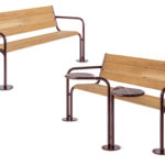 Grow backed bench and table. Design Peter Andersson & Mats Aldén