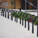 Hoop cykelpollare, design Broberg & Ridderstråle.