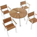 SunSet möbelgrupp, med runt bord och fåtöljer. Design, Mats Aldén