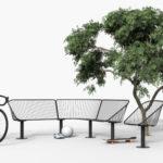 Korg soffa i byggsystem med fåtölj. Design Thomas Bernstrand