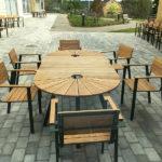 SunSet möbelgrupp med iläggsskiva, Heffnersgården Sundsvall. Design, Mats Aldén