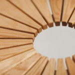 SunSet runt bord i oljad ek, detalj. Design, Mats Aldén
